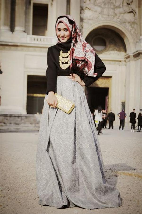 modern Hijab Fashion for girls 2014