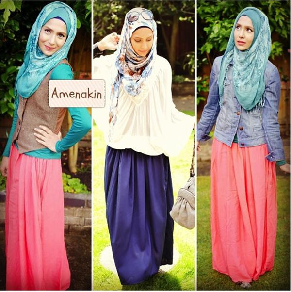 Fashion Hijab 2014 The lengthy hijab is the most