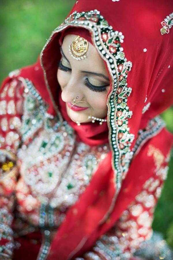 hijab for brides