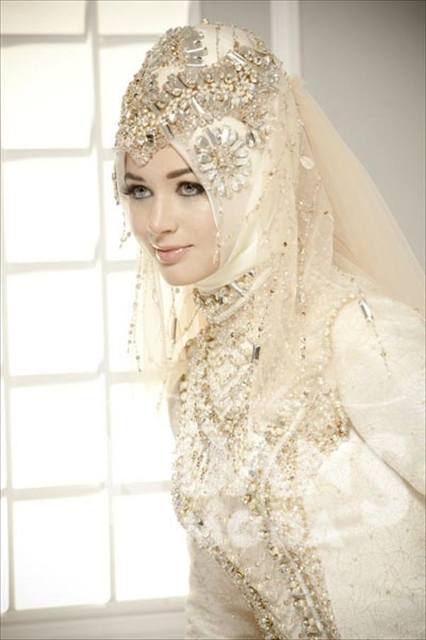 wedding hijab scarf