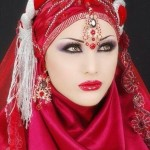 contemporary bridal hijab