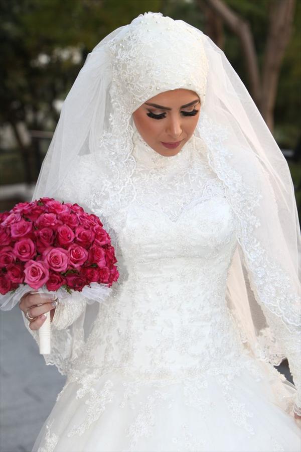 عکس عروس و داماد با حجاب